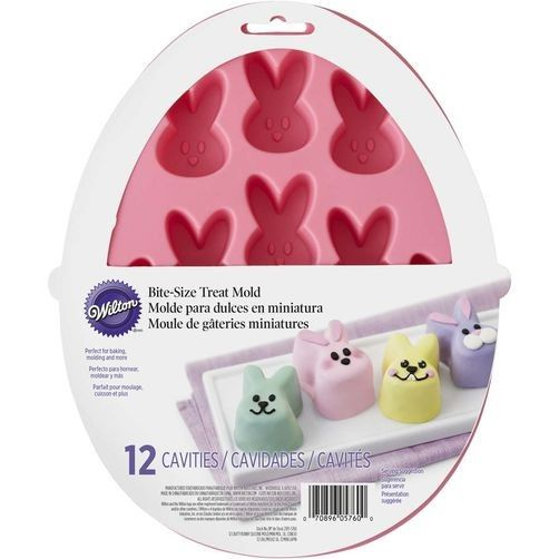 Wilton 12 Cavity Bite Sized Easter Bunny Treat Mould