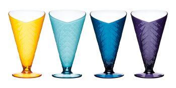 Set of 2 KitchenCraft Sail Away Acrylic Ice Cream Dishes