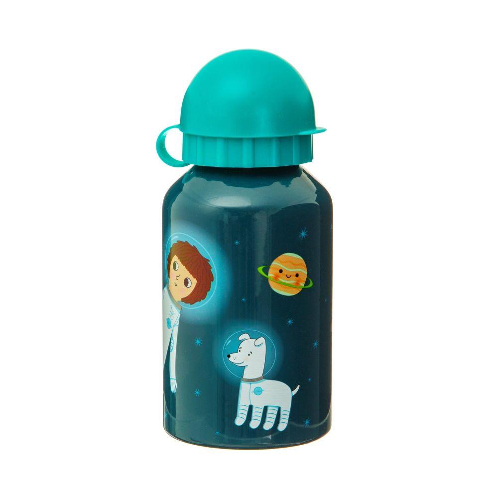 Space Explorer Kids Metal Water Bottle