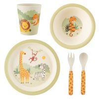 Sass & Belle Savannah Safari Animals 5 Piece Dinner Set