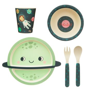 Sass & Belle Space Explorer 5 Piece Bamboo Dinner Set