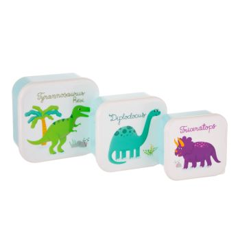 Sass & Belle Roarsome Dinosaur Set of 3 Lunch Boxes