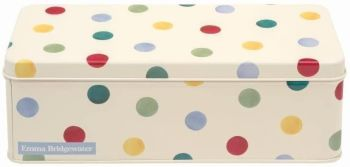 Emma Bridgewater Original Polka Dot Long Rectangular Tin