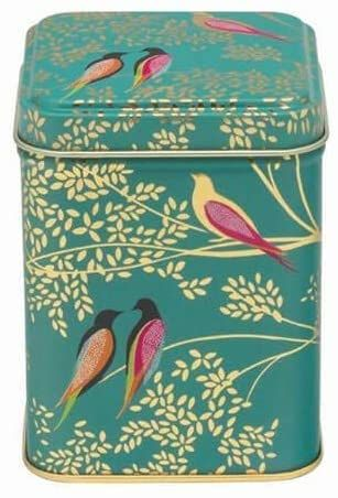 Sara Miller Green Birds Square Storage Tin