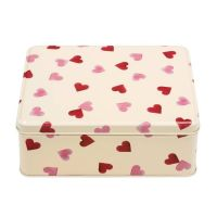 Emma Bridgewater Pink Hearts Rectangular Storage Tin