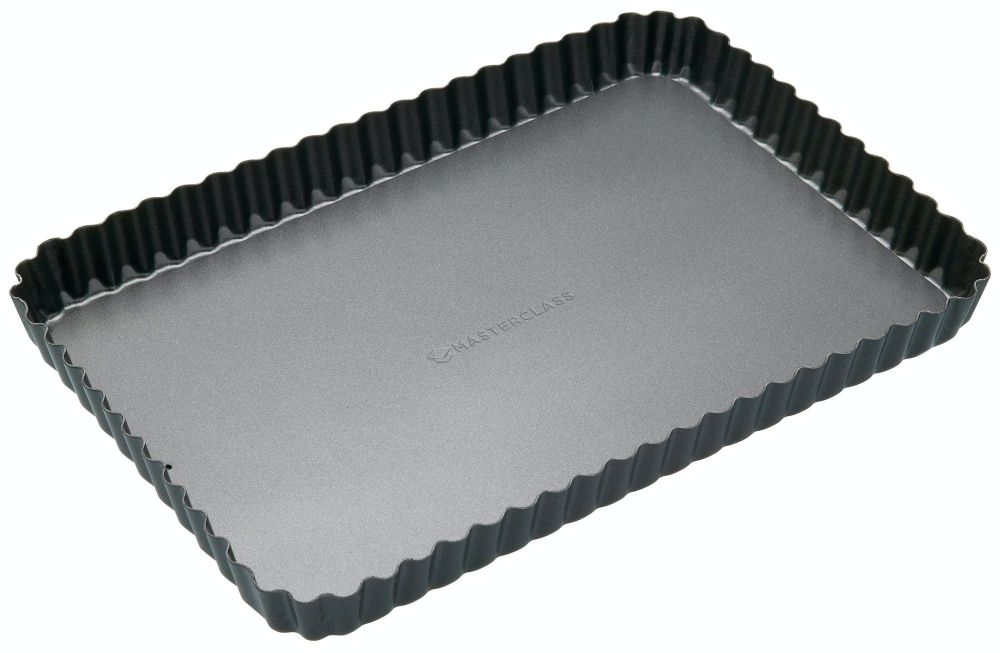 KitchenCraft Masterclass Non-Stick Large Rectangular Loose Base Quiche Tin