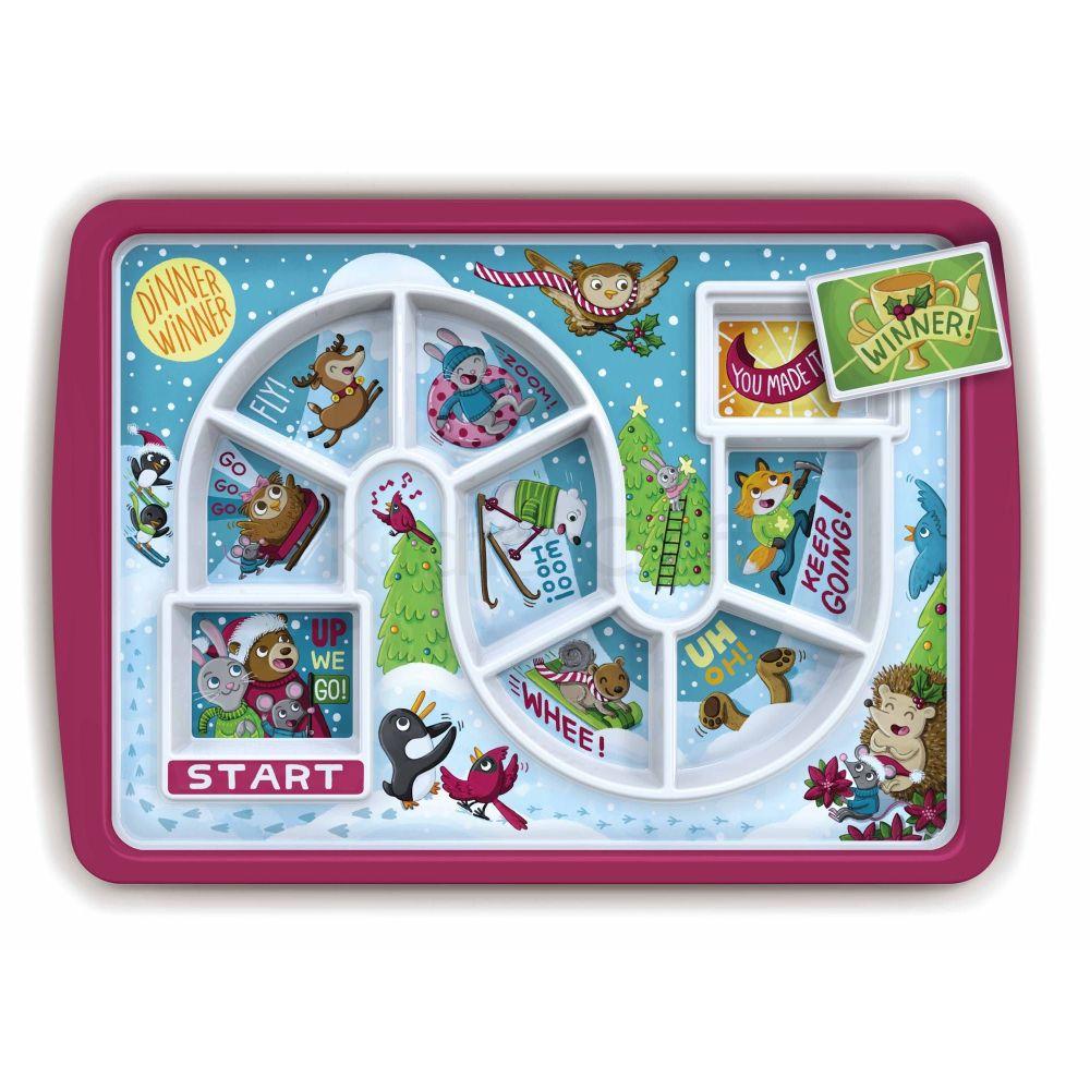Fred Dinner Winner Winter Time Kids Melamine Dinner Plate