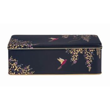 Sara Miller Blue Hummingbird Rectangular Storage Tin
