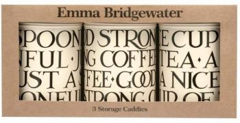 Emma Bridgewater Black Toast Tea Coffee Sugar Caddies