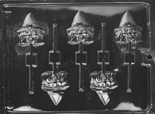 Witch Head Lollipop Halloween Chocolate Mould