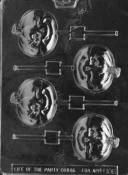 Winking Pumpkin Lollipop Halloween Chocolate Mould