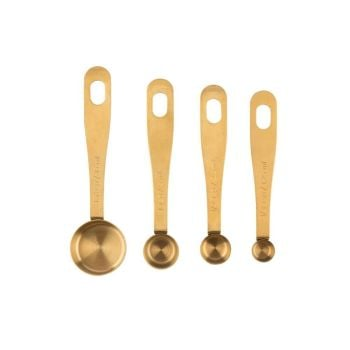 Kitchen Pantry Brass Measuring Spoons