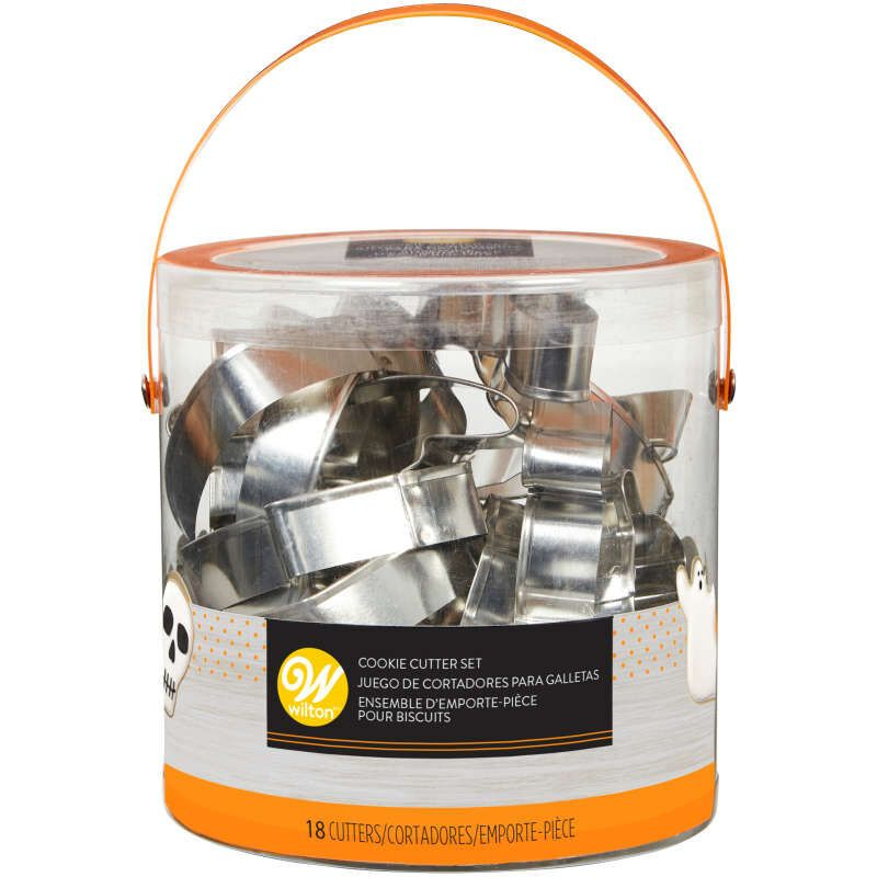 Wilton Set of 18 Metal Halloween Cookie Cutters