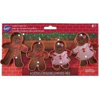 Wilton Set of 4 Metal Gingerbread Mantle Cookie Cutters