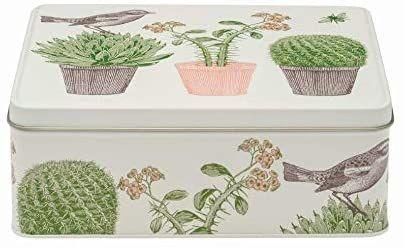 Thornback & Peel Cactus and Bird Rectangular Storage Tin