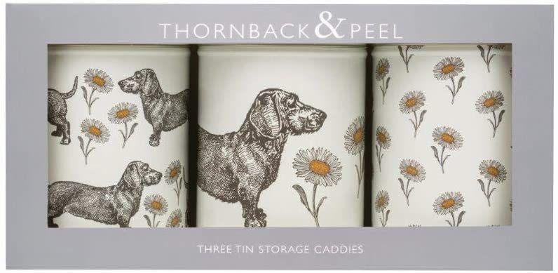 Thornback & Peel Dog and Daisy Tea Coffee Sugar Caddies