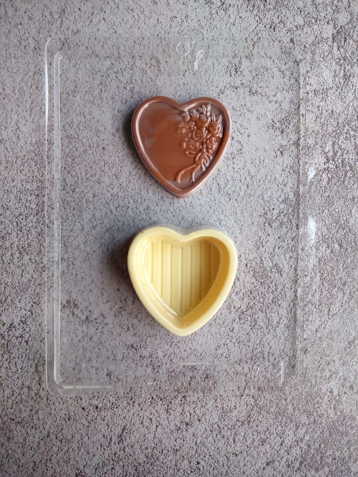 Heart Chocolate Pour Box Mould