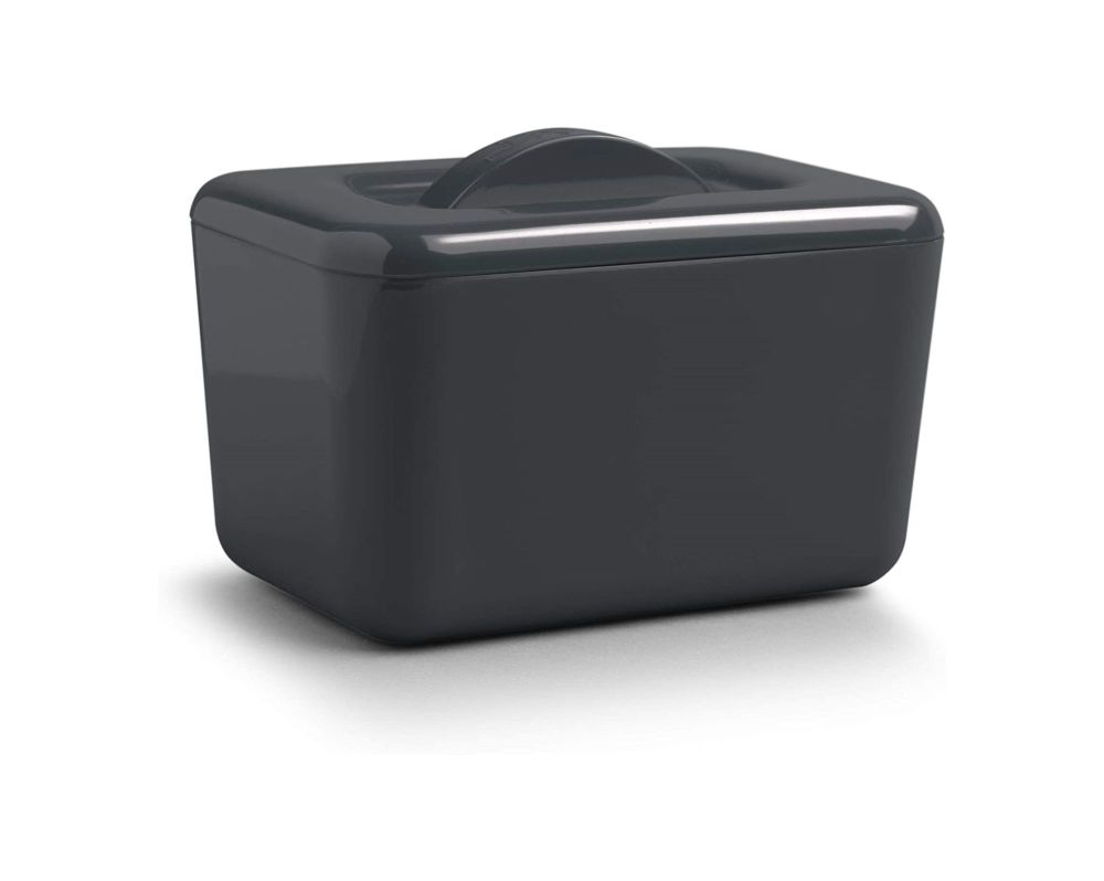 Zeal Classic Melamine Insulated Butter Dish with Lid Dark Grey
