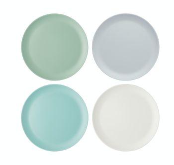KitchenCraft Colourworks Classics Set of 4 Extra-Large Melamine Dinner Plates