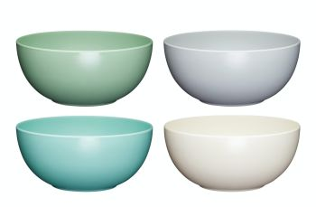KitchenCraft Colourworks Classics Set of 4 Melamine Bowls