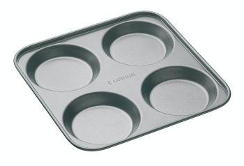 KitchenCraft MasterClass Non-Stick 4 Hole Yorkshire Pudding Pan