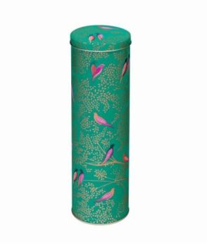 Sara Miller Green Birds Extra Tall Storage Tin