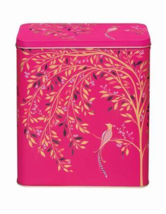 Sara Miller Pink Birds Cereal Storage Tin