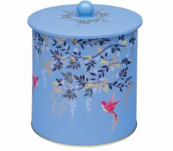Sara Miller Chelsea Blue Bird Biscuit Barrel