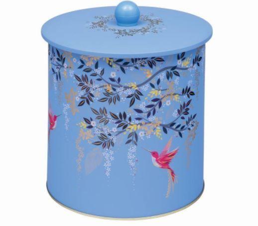 Sara Miller Chelsea Blue Bird Biscuit Barrel