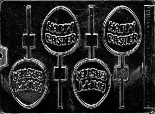 Happy Easter Chocolate Lollipop Mould