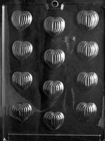 Grooved Small Hearts Chocolate Mould