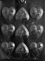 Medium Flowered Heart Chocolates Mould