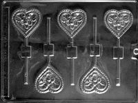 Flower Heart Chocolate Lollipop Mould
