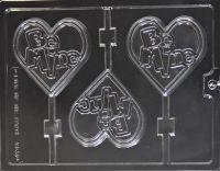Be Mine Heart Chocolate Lollipop Mould