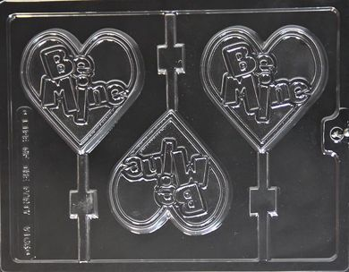 Be Mine Heart Chocolate Lollipop Mould