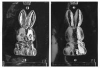 3D Bunny with Easter Basket Chocolate Mould