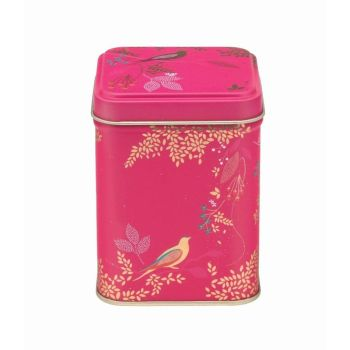 Sara Miller Pink Birds Square Storage Tin