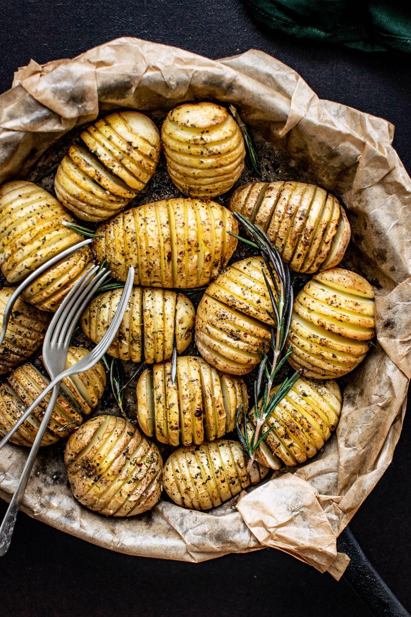 Rosemary and Garlic Hasselback Potatoes