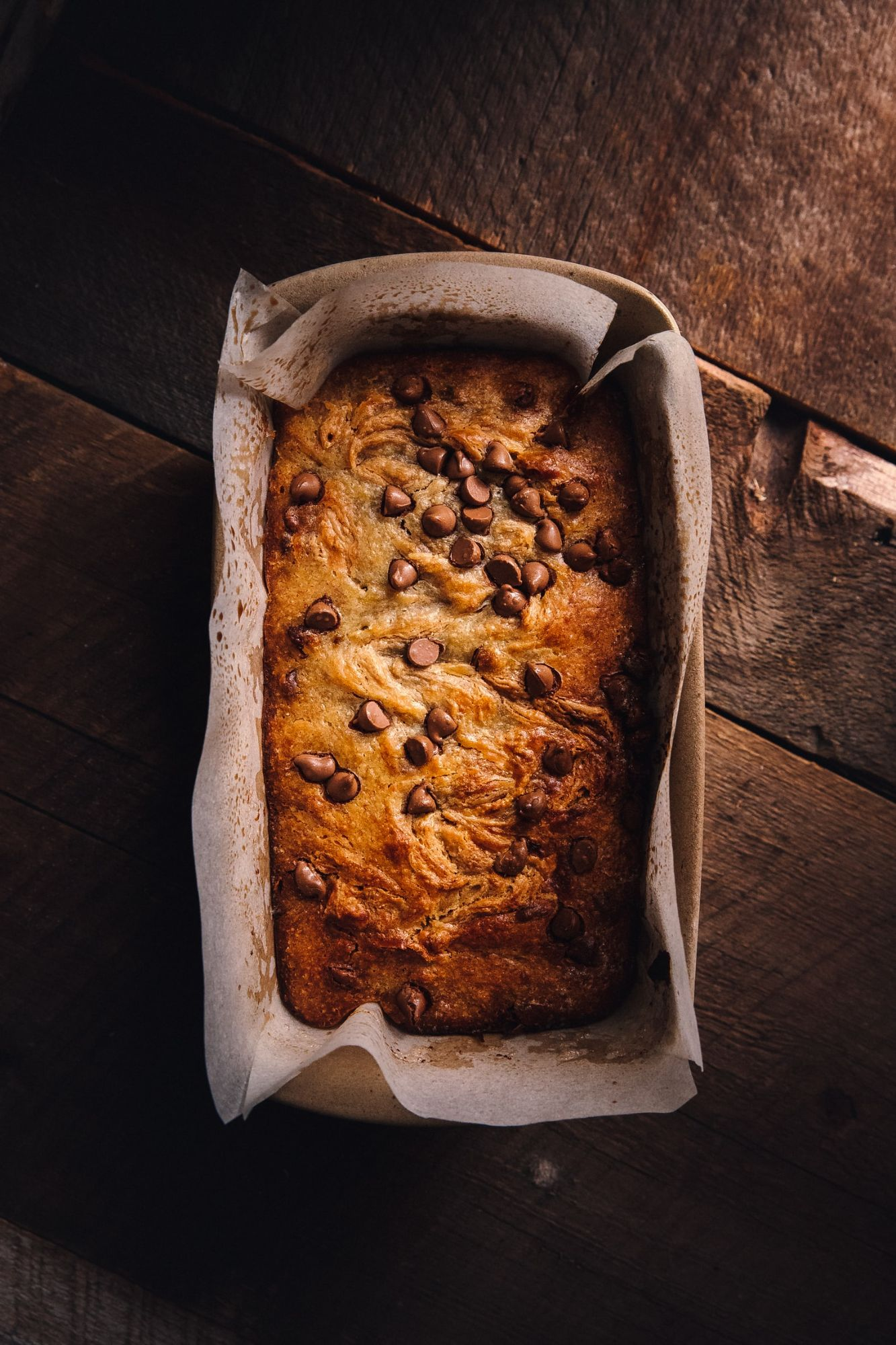 Coconut Chocolate Chip Loaf Cake