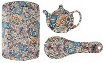 William Morris Golden Lily Melamine Tea Serving Set