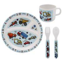 Little Stars Vehicles 4 Piece Children's Dinner Set