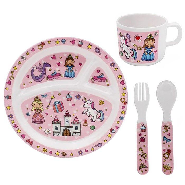 Little Stars Fairytale 4 Piece Children's Dinner Set