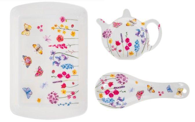 Butterfly Garden Melamine Tea Set