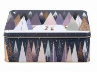 Sara Miller Frosted Pines Christmas Storage Tin