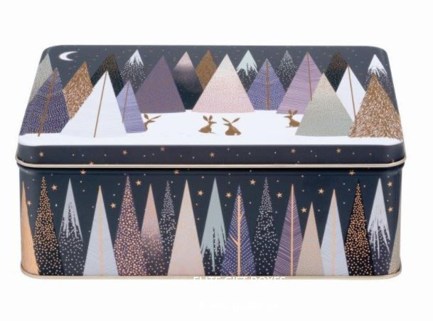 Sara Miller Frosted Pine Christmas Storage Tin