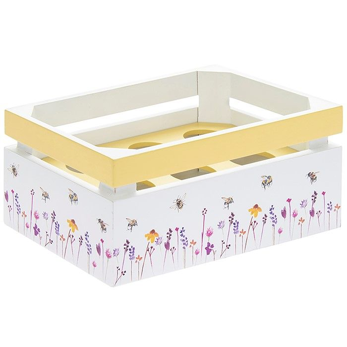 Busy Bees Wooden Egg Crate