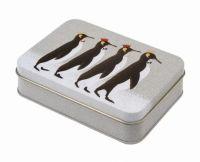 Sara Miller Christmas Penguin Small Rectangular Storage Tin