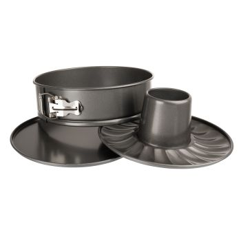 Luxe Bakeware 2 in 1 Spring Form and Ring Cake Pan