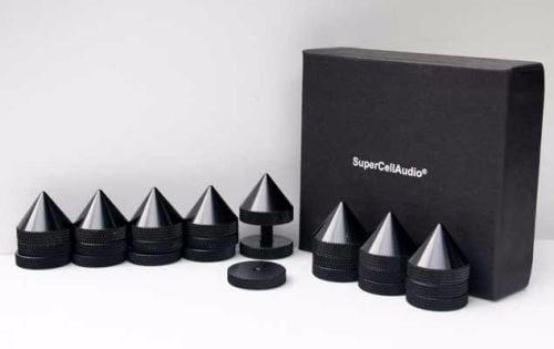 Black Sound Isolation Cones/Spikes set.