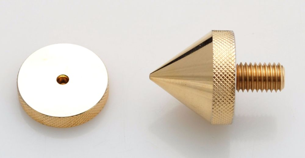 Isolation Cone Metric M-8, gold plated.